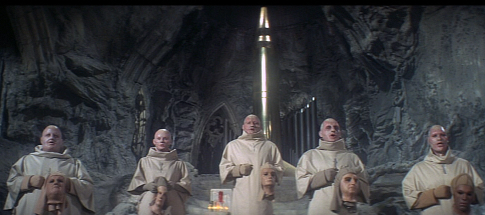 Image result for Images of bomb worshipers in Beneath the Planet of the Apes